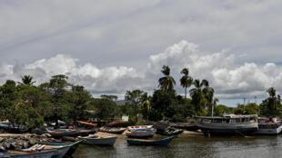 Vista general del puerto de Güiria, Estado de Sucre, Venezuela, el 13 de Marzo de 2020
