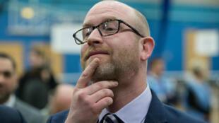 Paul Nuttall après sa défaite face au candidat travailliste dans la circonscription de Stoke-on-Trent, le 23 février 2017.