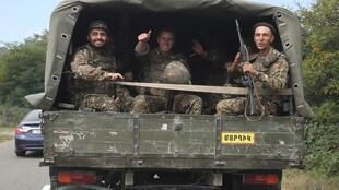 جنود أرمن في منطقة ناغورني قره باغ، 29 سبتمبر/ أيلول 2020