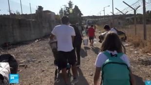 صورة من مخيم اللاجئين في اليونان