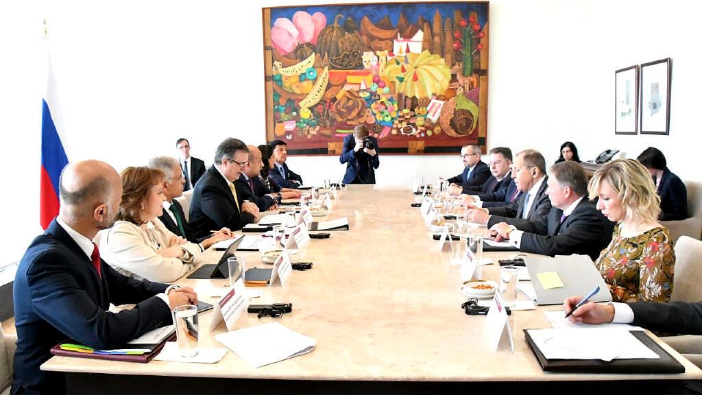 La reunión entre los dos equipos de los cancilleres de Rusia y México fue en Ciudad de México.