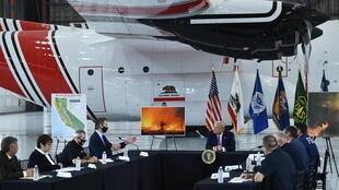 US President Donald Trump was briefed on the California wildfires by Governor Gavin Newsom, who has strongly argued that they are driven mostly by global warming