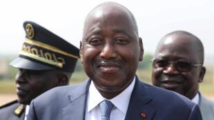 Le Premier ministre ivoirien Amadou Gon Coulibaly à l'aéroport de Bouaké, le 22 décembre 2019.