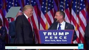 الرئيس الأمريكي المنتخب دونالد ترامب (يسار) ورئيس الحزب الجمهوري رينس بريبوس