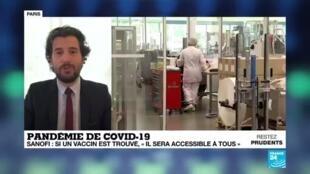 """2020-05-14 13:04 Rétropédalage de Sanofi : si un vaccin est trouvé """"il sera accessible à tous"""""""