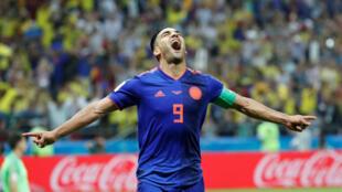 Falcao celebra su primer gol en el Mundial