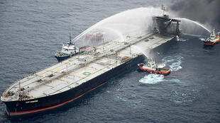 A blaze on the oil tanker New Diamond was finally brought under control on Wednesday, the Sri Lankan navy said