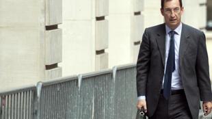 Nicolas Bazir, ancien chef de cabinet et ancien directeur de campagne d'Édouard Balladur, à son arrivée au tribunal correctionnel de Paris, le 7 octobre 2019.
