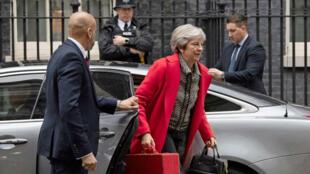 La primera ministra británica, Theresa May, en Downing Street, el 16 de noviembre de 2018.