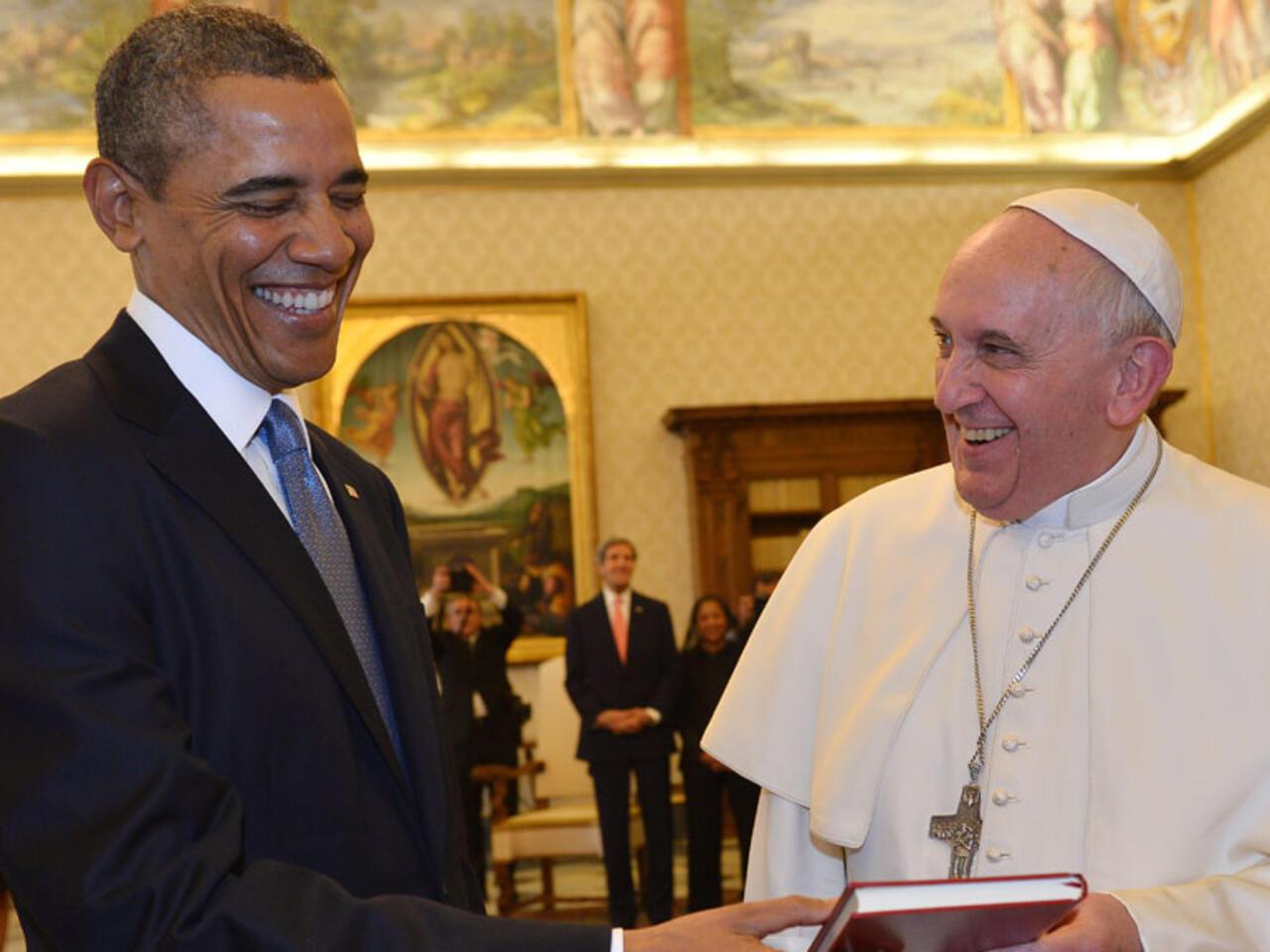 Rencontre entre le pape et Obama à la Maison Blanche