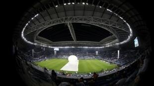 ملعب الوكرة قرب العاصمة القطرية الدوحة الذي سيستضيف عددا من مباريات نهائيات مونديال 2022