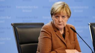 La chancelière allemande Angela Merkel le 23 septembre au sommet européen sur les migrants à Bruxelles.