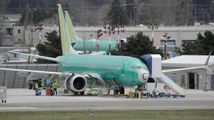 Varios modelos del Boeing 737 MAX 8 estacionados en una planta de producción en Renton, Estados Unidos. 11 de marzo de 2019.