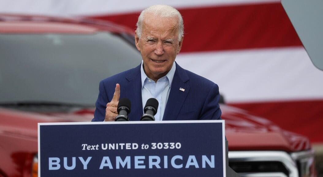 El exvicepresidente y candidato a la Presidencia de Estados Unidos, Joe Biden, durante un acto de campaña en Warren, Michigan, el 9 de septiembre de 2020.