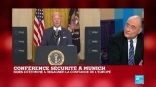 2021-02-19 18:03 Conférence sur la sécurité à Munich : Biden déterminé à regagner la confiance de l'Europe