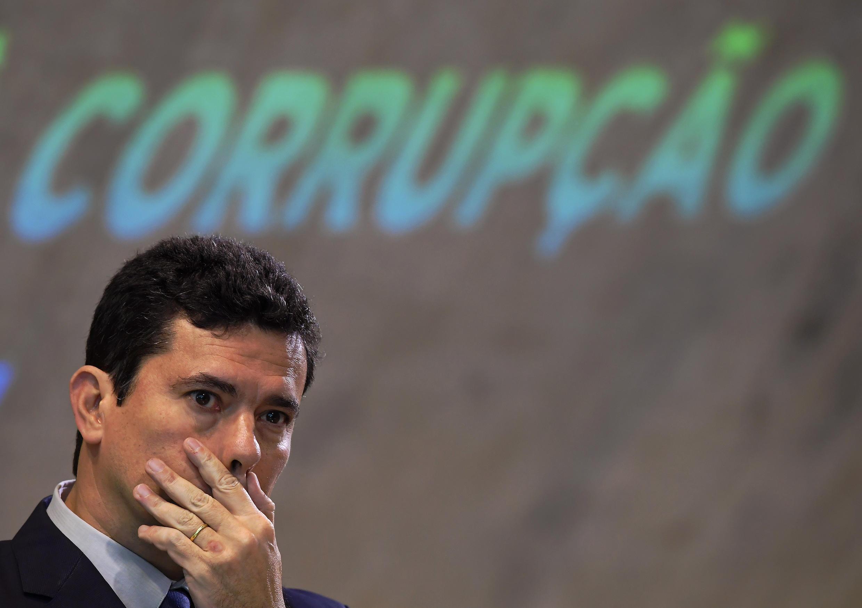 Brazilian judge Sergio Moro, pictured November 23, 2018 in Rio.