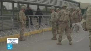 جنود أمريكيون في المناطق الحدودية بين الولايات المتحدة والمكسيك.