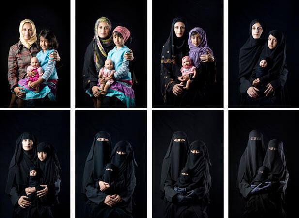 Série du Hidjab  : Mère, fille & poupée