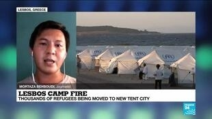 2020-09-17 13:03 Lesbos camp fire: Thousands of refugees being moved to new tent city