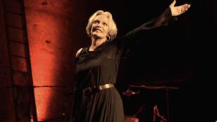 Marie Laforêt, le 12 septembre 2005, au théâtre des Bouffes parisiens.