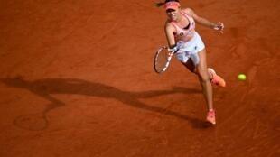 L'Américaine Sofia Kenin face à la Polonaise Iga Swiatek lors de la finale de Roland-Garros, le 10 octobre 2020