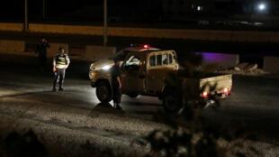 Police checkpoint near Zarqa Jordan explosion