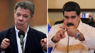 Juan Manuel Santos y Nicolás Maduro están distanciados después de un incidente en la frontera.