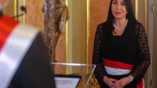 صورة وزعتها الرئاسة البيروفية لوزيرة الخارجية المستقيلة إليزابيث أستيتي في تشرين الثاني/نوفمبر 2020 في ليما