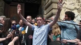 Daniel Legrand, vendredi 5 juin 2015, à la sortie du tribunal de Rennes.