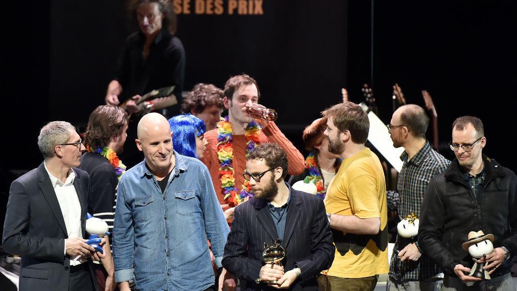 Les lauréats venus saluer le public lors de la remise des prix, samedi 30 janvier, à Angoulême.