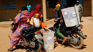 Burkina Faso election ballot boxes