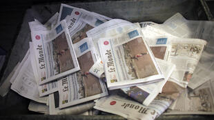 L'impression du quotidien Le Monde a été bloquée lundi en Ile-de-France suite à une manifestation du Syndicat du Livre-CGT
