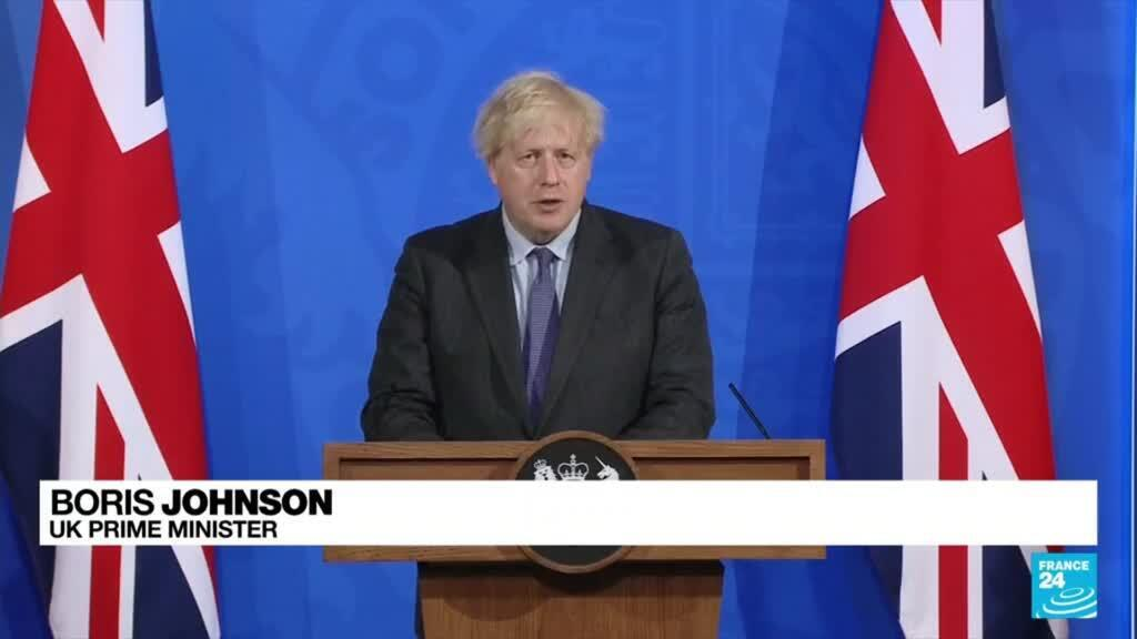 2021-06-14 20:09 UK's Johnson delays lockdown easing for England by 4 weeks