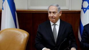 Le Premier ministre israélien Benjamin Netanyahou, lors d'une réunion de son cabinet, le 25février2018.