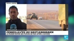 2020-11-11 13:11 Cessez-le-feu au Haut-Karabakh : la Russie envoie ses forces de paix après l'accord