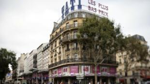 Facade du magasin Tati de Barbès (Paris), le 18