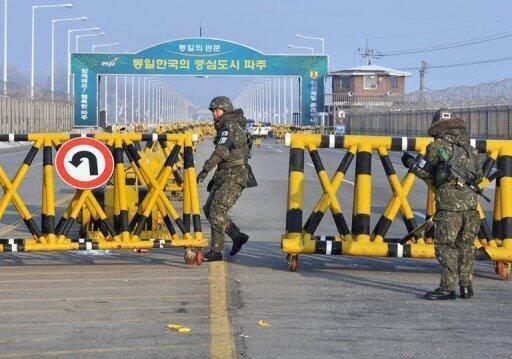 Le site industriel de Kaesong, en territoire nord-coréen.