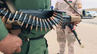 Las fuerzas aliadas al gobierno respaldado por la ONU en Trípoli, desplegadas en Sirte.