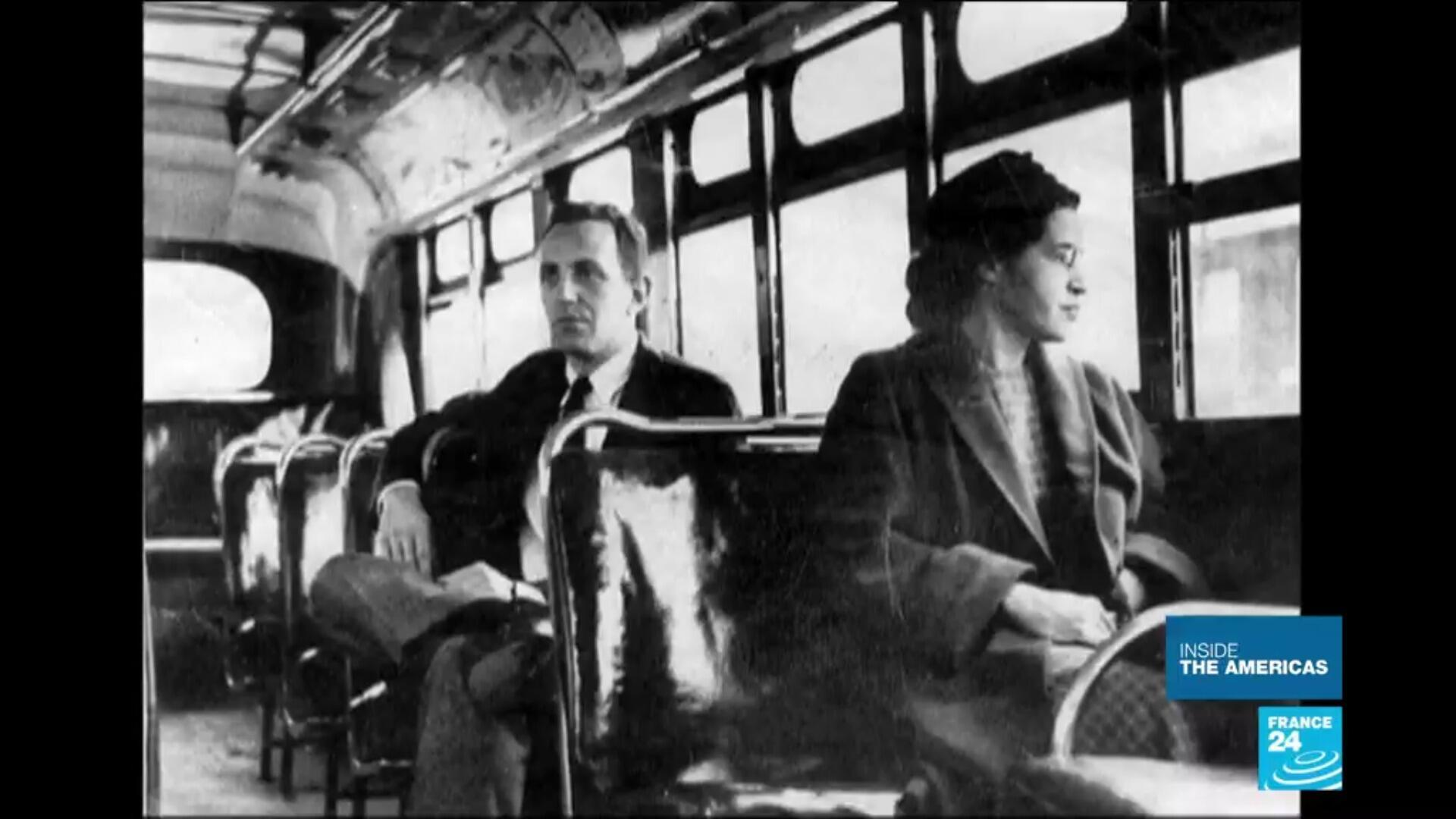 Rosa Parks in 1955. She became a key figure of the civil rights movement for refusing to give up her seat to a white passenger on a bus.