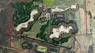 Plan de la futur communauté Trident Lakes.