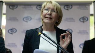 La procureure générale du Venezuela Luisa Ortega lors d'une conférence de presse, le 24 mai 2017.