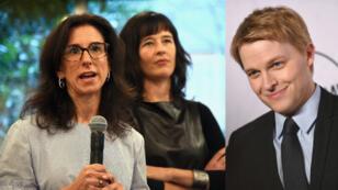 Jodi Kantor (gauche) et Megan Twohey du New York Times, ainsi que Ronan Farrow du New Yorker (droite) ont remporte le prix Pulitzer 2018 pour leur enquête sur l'affaire Weinstein.