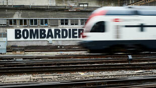 20-02-18 A Bombardier advertising board Oct 24 2019 by REUTERS - Denis Balibouse