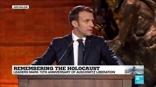 "2020-01-23 14:54 Macron: ""Anti-semitism is not only a problem of the Jews"""