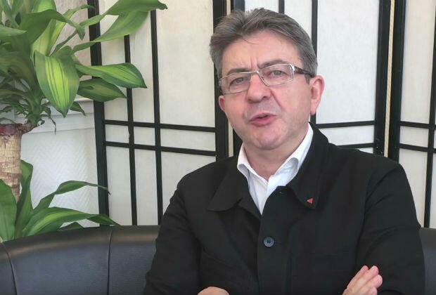French radical left-wing leader Jean-Luc Mélenchon on his YouTube channel