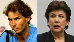 Rafael Nadal et Roselyne Bachelot.