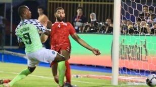 إيغالو مسجلا هدفه الخامس في البطولة أمام تونس. 17 يوليو 2019.