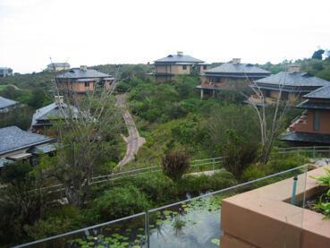 Les bungalows des Bleus à l'hôtel Pezula