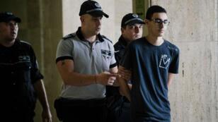 Mourad Hamyd, 20 ans, arrive au tribunal de Sofia le mercredi 10 août 2016.