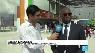 Former Ivory Coast football international Didier Drogba speaks to France 24.